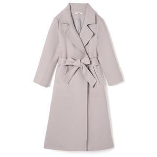 グレイル(GRL)のGRL ベルト付きガウンコート ライトグレー 新作 韓国ファッション 乃木坂46(ロングコート)