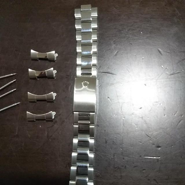 ロレックス 補修用ベルト ブレス 3連 フラッシュフィット付の通販