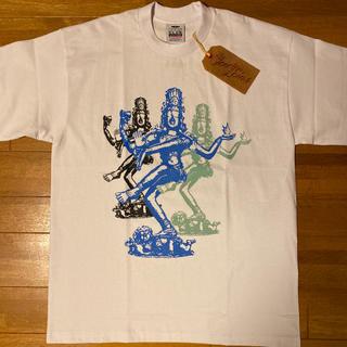 テンダーロイン(TENDERLOIN)の人気品! TENDERLOIN 半袖 Tシャツ SV シヴァ ホワイト 白 L(Tシャツ/カットソー(半袖/袖なし))