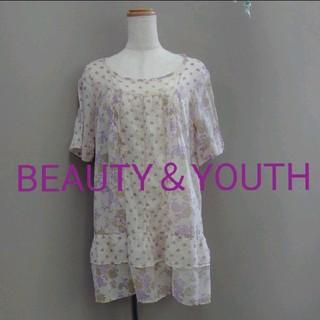BEAUTY&YOUTH UNITED ARROWS - ビューティーアンドユース ユナイテッドアローズ 花柄 チュニック フリーサイズ