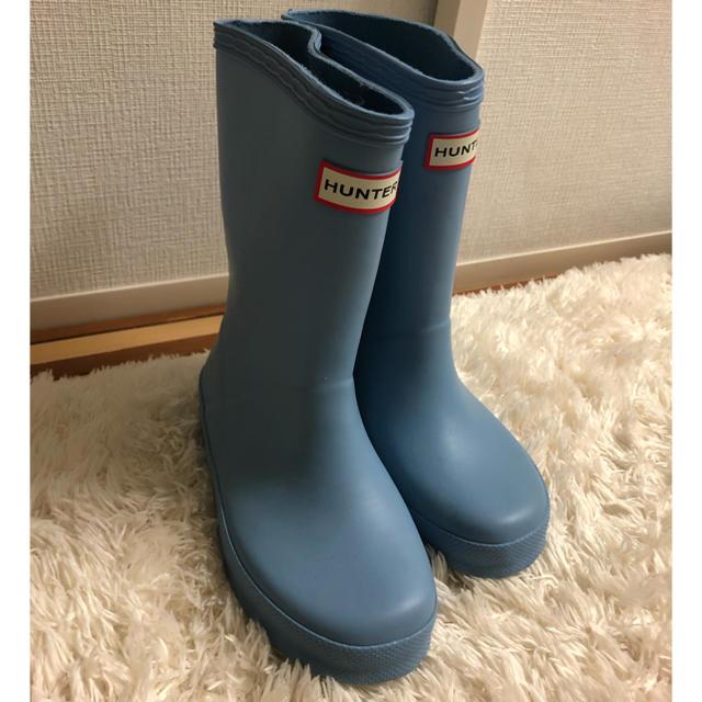 HUNTER(ハンター)の☆大人気☆【HUNTER】キッズ レインブーツ UK9 キッズ/ベビー/マタニティのキッズ靴/シューズ(15cm~)(長靴/レインシューズ)の商品写真