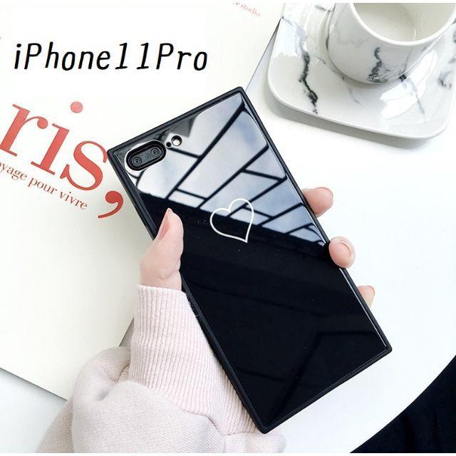 大人気!iPhone11Pro ハート カバー ケース ブラックの通販 by すわりん's shop|ラクマ