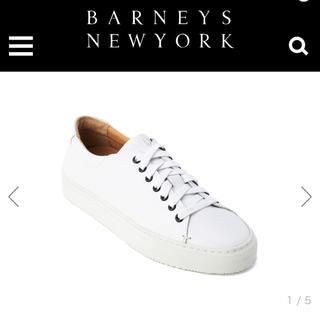 バーニーズニューヨーク(BARNEYS NEW YORK)の( BARNEYS NEWYORK )バーニーズニューヨーク レザースニーカー(スニーカー)