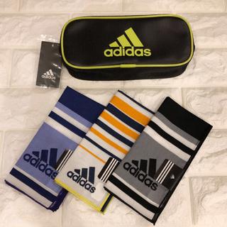 アディダス(adidas)の☆新品☆アディダス 筆箱とハンカチ3枚セット 入学準備 (鉛筆)