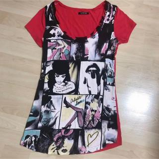 スパイラルガール(SPIRAL GIRL)のスパイラルガール  SPIRALGIRL Tシャツ 赤 スライ マウジー エモダ(Tシャツ(半袖/袖なし))