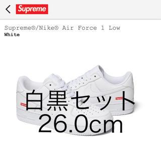 シュプリーム(Supreme)のSupreme Nike Air Force 1 白黒セット(スニーカー)