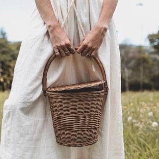 キャラメルベビー&チャイルド(Caramel baby&child )の新品✦1点のみ Olli Ella  Apple Basket(Big)(トートバッグ)