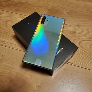 ギャラクシー(Galaxy)のSIMフリー Galaxy note 10+ オーロラグロー 新品同様(スマートフォン本体)