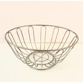 アクタス(ACTUS)の美品☆フルーツバスケット アクタス ステンレス インテリア カゴ キッチン(バスケット/かご)