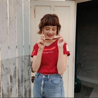 ロキエ(Lochie)のapple pie T-shirt (Red)(Tシャツ(半袖/袖なし))