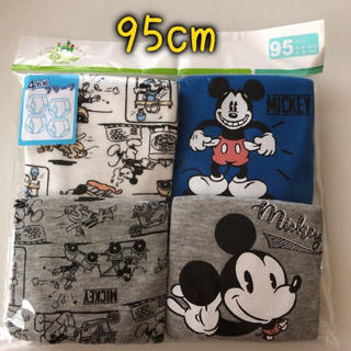 ミッキーマウス(ミッキーマウス)の95cm 4枚組☆ブリーフパンツ ミッキーマウス 男の子用 ディズニー(下着)