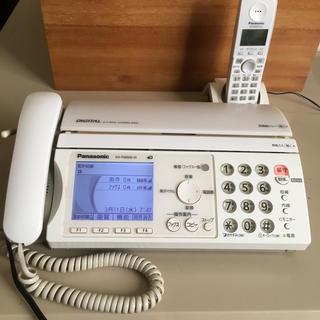 パナソニック(Panasonic)のPanasonic FAX付電話機 子機付き(電話台/ファックス台)