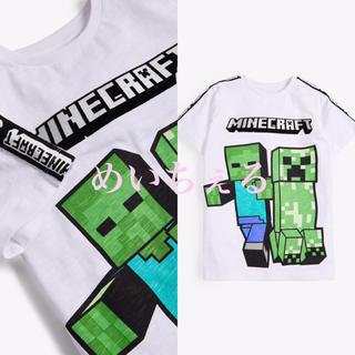 マイクロソフト(Microsoft)の【新品】ホワイト Minecraft プリントTシャツ(オールド)(Tシャツ/カットソー)