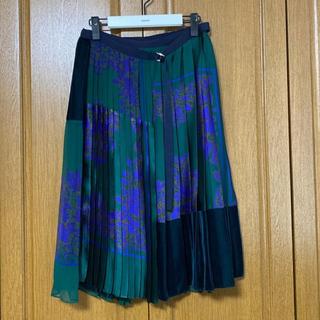 サカイ(sacai)の★ sacai サカイ★2017AW ペイズリー プリーツ スカート(ひざ丈スカート)