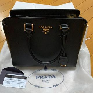 プラダ(PRADA)の正規品 未使用 PRADA サフィアーノ 2way バッグ NERO(ハンドバッグ)