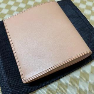 ムジルシリョウヒン(MUJI (無印良品))の新品 MUJIイタリア産ヌメ革財布(折り財布)