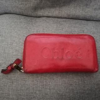 クロエ(Chloe)のChloe 赤色長財布(長財布)