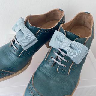 ジェーンマープル(JaneMarple)のジェーンマープル 本革 リボンオックスフォードシューズ Jane marple(ローファー/革靴)