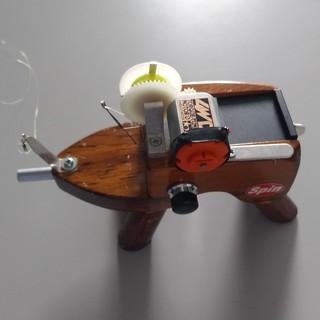 ワカサギ釣り用電動リール 疾風 ジャンク品(リール)