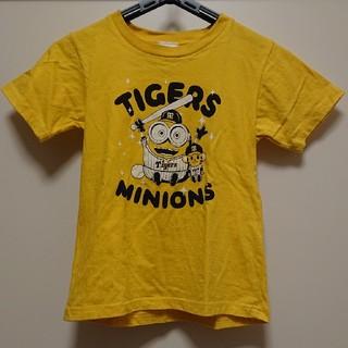 ハンシンタイガース(阪神タイガース)の子供服 阪神 タイガース & ミニオン コラボ Tシャツ 130サイズ(Tシャツ/カットソー)