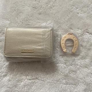 タカラジマシャ(宝島社)の雑誌付録 ゴールドミニ財布+馬蹄チャームキーホルダーセット(折り財布)
