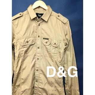 ドルチェアンドガッバーナ(DOLCE&GABBANA)の【新品タグ付】ドルチェ&ガッバーナ 長袖 ワークシャツ D&G 46サイズ(その他)