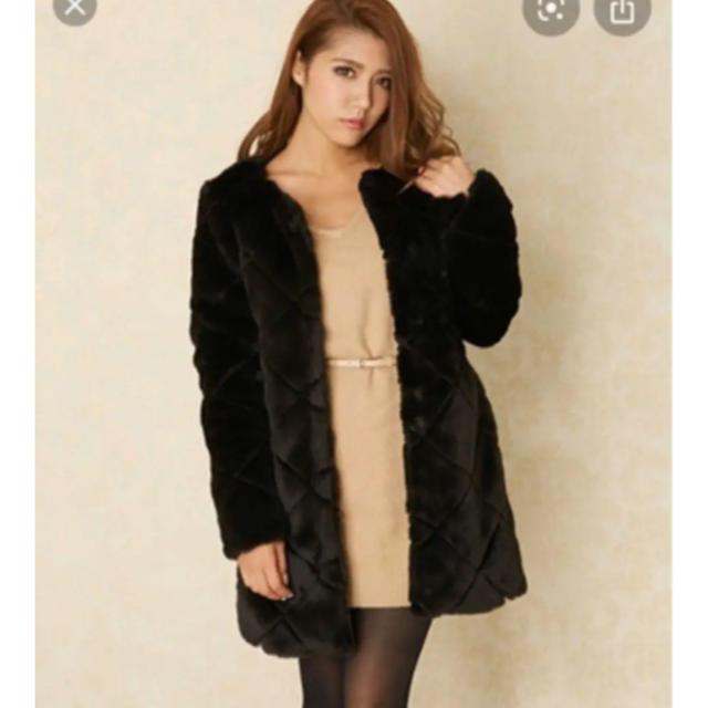 rienda(リエンダ)のフェイクファー コート レディースのジャケット/アウター(毛皮/ファーコート)の商品写真