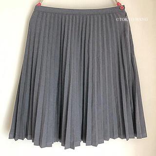 indio ひざ丈 スカート ミニスカート グレー プリーツ かわいい 秋冬