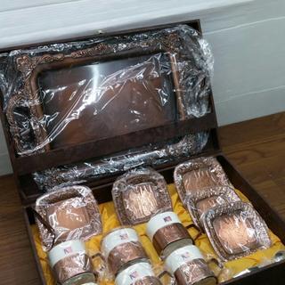 こ41213   ROTUS  コーヒーセット   カップ&ソーサー  銅製 (グラス/カップ)