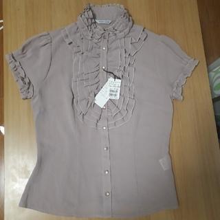 スコットクラブ(SCOT CLUB)のSCOT CLUBスコットクラブ新品未使用半袖シフォンシャツ(シャツ/ブラウス(半袖/袖なし))