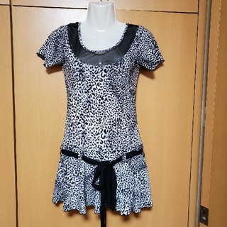 デイジーストア(dazzy store)の新品 ヒョウ柄 ワンピ ドレス キャバ(ナイトドレス)