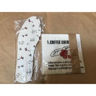 かやふきん コーヒー柄(収納/キッチン雑貨)
