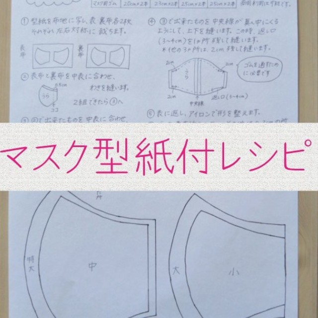 BMC マスク 中国製 - ハンドメイド マスク 型紙付レシピの通販