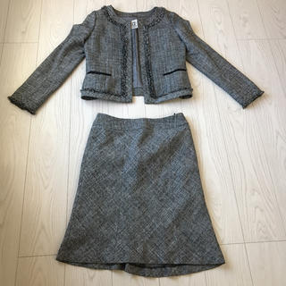 ミッシェルクラン(MICHEL KLEIN)のミッシェルクランMICHEL kLEINスカート上下1スーツ ツィード セット(スーツ)