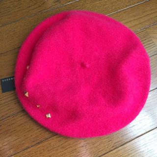 マーキュリーデュオ(MERCURYDUO)の新品タグ付きマーキュリーピンクベレー帽(ハンチング/ベレー帽)