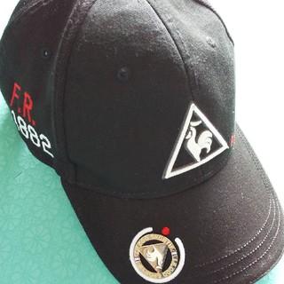 ルコックスポルティフ(le coq sportif)のゴルフキャップ 黒 ルコックle coq マグネットマーカー付き(キャップ)