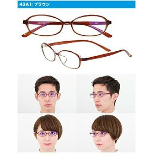 ゾフ(Zoff)の【新品未開封】Zoff PC オーバルメガネ クリア ブラウン(サングラス/メガネ)