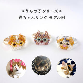 【うちの子】 猫ちゃんリング *オーダーメイド(猫)