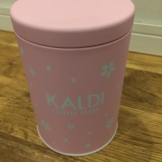 カルディ(KALDI)のカルディ  スプリングブレンドキャニスター缶☆2020春数量限定☆(容器)