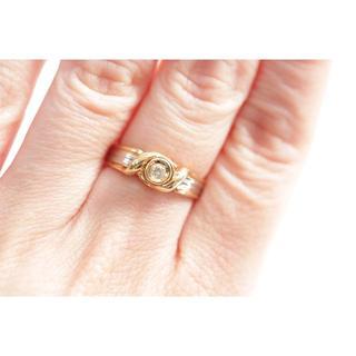 トクトクジュエリー ダイヤモンド 18金 プラチナ コンビ リング(リング(指輪))