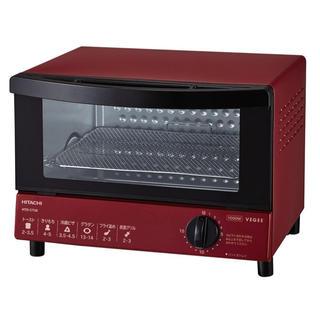 日立 - 日立 オーブントースター 1 000W 角型パン2枚焼き HTO-CT30 R