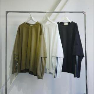 ジエダ(Jieda)のJieDa LAYERED T-SHIRT カーキ サイズ2(Tシャツ/カットソー(七分/長袖))