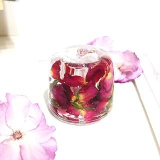 ★SALE★No.40 薔薇の固まるハーバリウムペン立て•印鑑立て(ドライフラワー)