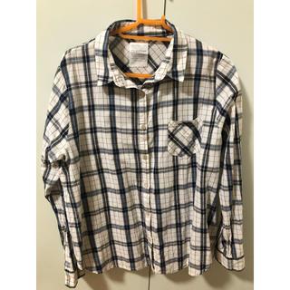 エージープラス(a.g.plus)のチェックシャツ Fサイズ(シャツ/ブラウス(長袖/七分))