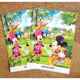 ミッキーマウス(ミッキーマウス)のミッキー&ミニー 非売品 クリアファイル 2枚セット(クリアファイル)