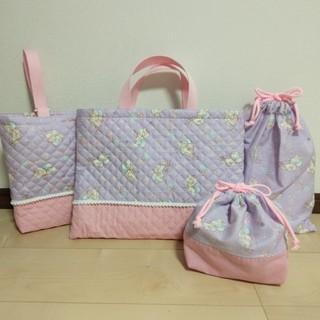 キキララ✴レッスンバッグ✴上履き入れ✴体操服袋✴お弁当袋✴4点セット✴女の子(バッグ/レッスンバッグ)