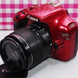 キヤノン(Canon)の♥激レアワインレッド♥Canon Kiss X50 レンズキット♪(デジタル一眼)