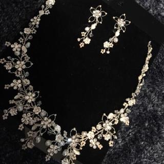 TAKAMI - 美品 ウェディング ネックレス イヤリング