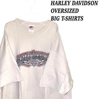 ハーレーダビッドソン(Harley Davidson)のハーレーダビッドソン ビッグ プリント オーバーサイズ Tシャツ 古着 韓国系(Tシャツ/カットソー(半袖/袖なし))