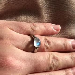 レインボームーンストーン  天然石リング 14号(リング(指輪))